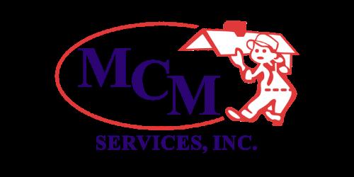 A logo of a handyman holding up a home